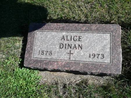 DINAN, ALICE - Palo Alto County, Iowa   ALICE DINAN