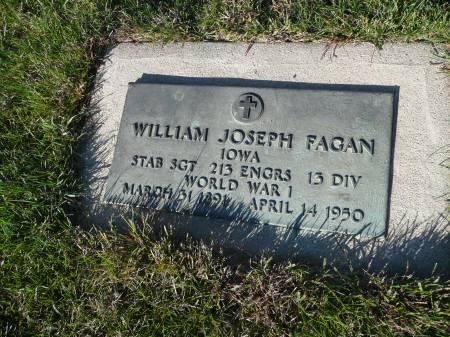 FAGAN, WILLIAM JOSEPH - Palo Alto County, Iowa   WILLIAM JOSEPH FAGAN