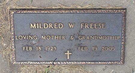 FREESE, MILDRED W. - Palo Alto County, Iowa | MILDRED W. FREESE