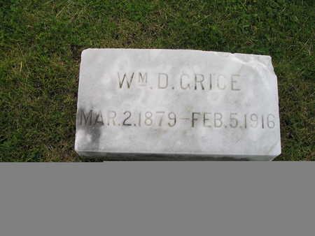 GRICE, WILLIAM - Palo Alto County, Iowa   WILLIAM GRICE