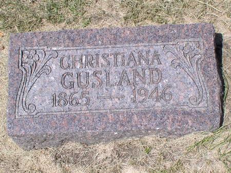 ANDREASSEN GUSLAND, CHRISTIANA - Palo Alto County, Iowa | CHRISTIANA ANDREASSEN GUSLAND
