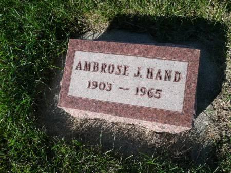 HAND, AMBROSE J - Palo Alto County, Iowa   AMBROSE J HAND