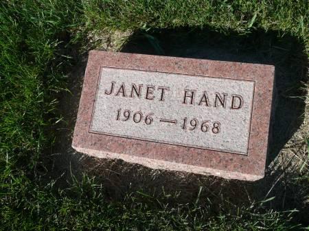 HAND, JANET - Palo Alto County, Iowa | JANET HAND
