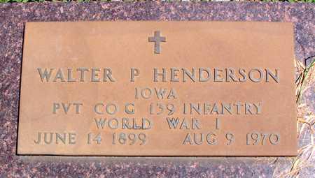 HENDERSON, WALTER - Palo Alto County, Iowa | WALTER HENDERSON