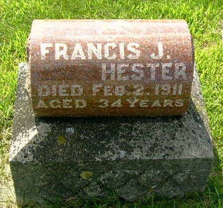 HESTER, FRANCIS J - Palo Alto County, Iowa   FRANCIS J HESTER