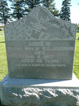 JACKMAN, ABBIE M - Palo Alto County, Iowa | ABBIE M JACKMAN
