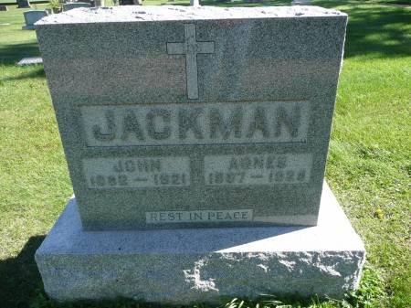 JACKMAN, AGNES - Palo Alto County, Iowa   AGNES JACKMAN
