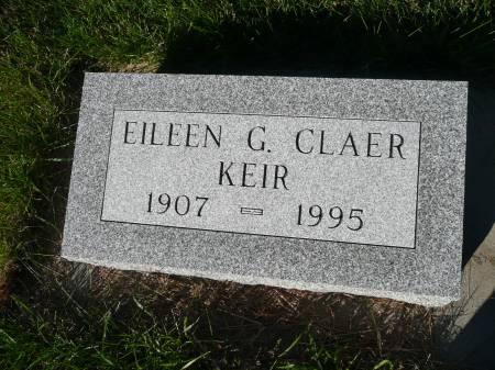 CLAER KEIR, EILEEN G - Palo Alto County, Iowa   EILEEN G CLAER KEIR