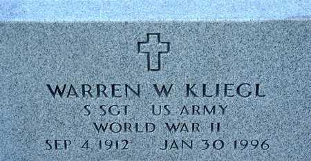 KLIEGL, WARREN - Palo Alto County, Iowa   WARREN KLIEGL