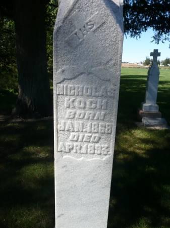 KOCH, NICHOLAS - Palo Alto County, Iowa   NICHOLAS KOCH