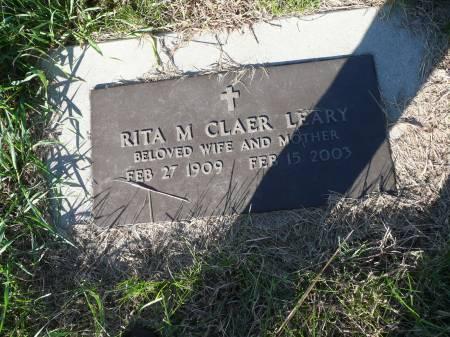 CLAER LEARY, RITA M - Palo Alto County, Iowa | RITA M CLAER LEARY