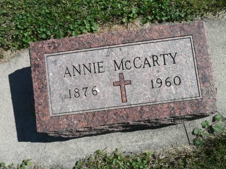 MCCARTY, ANNIE - Palo Alto County, Iowa   ANNIE MCCARTY