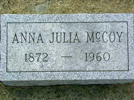 MCCOY, ANNA JULIA - Palo Alto County, Iowa | ANNA JULIA MCCOY