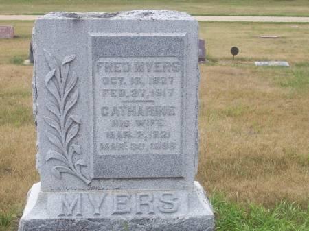 SCHANBACHER MYERS, MARY CATHARINE - Palo Alto County, Iowa | MARY CATHARINE SCHANBACHER MYERS