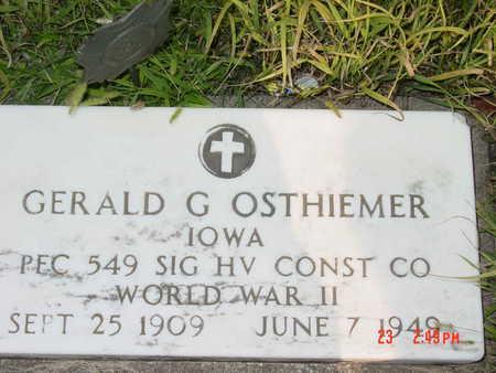 OSTHEIMER, GERALD G. - Palo Alto County, Iowa | GERALD G. OSTHEIMER