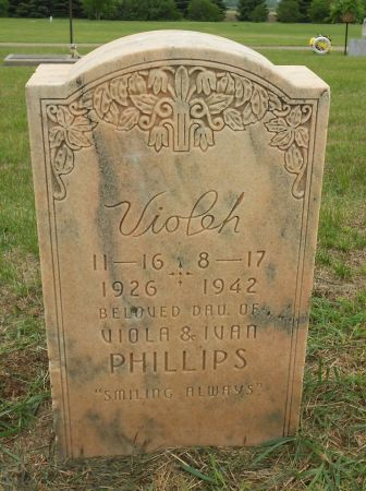 PHILLIIPS, VIOLEH - Palo Alto County, Iowa   VIOLEH PHILLIIPS