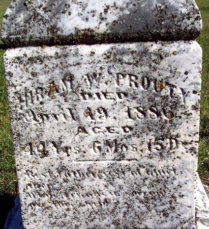 PROUTY, HIRAM WILLIAM - Palo Alto County, Iowa   HIRAM WILLIAM PROUTY