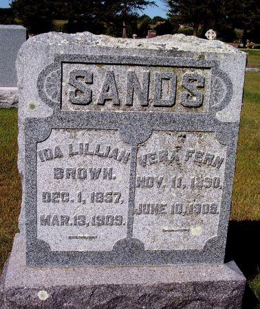 BROWN SANDS, IDA LILLIAN - Palo Alto County, Iowa | IDA LILLIAN BROWN SANDS