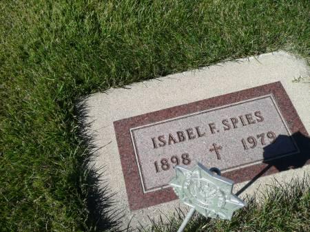 SPIES, ISABEL F - Palo Alto County, Iowa   ISABEL F SPIES