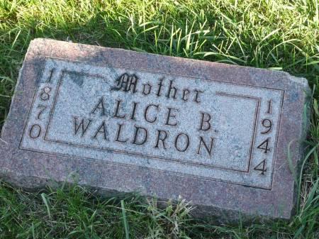 WALDRON, ALICE B - Palo Alto County, Iowa   ALICE B WALDRON