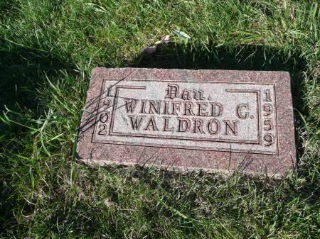 WALDRON, WINIFRED C - Palo Alto County, Iowa   WINIFRED C WALDRON