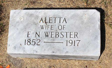 WEBSTER, ALETTA - Palo Alto County, Iowa | ALETTA WEBSTER