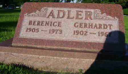 ADLER, BERENICE - Plymouth County, Iowa | BERENICE ADLER