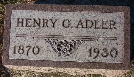 ADLER, HENRY G. - Plymouth County, Iowa | HENRY G. ADLER