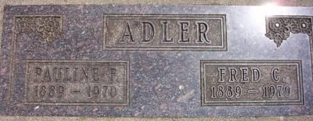 ADLER, PAULINE F. - Plymouth County, Iowa   PAULINE F. ADLER