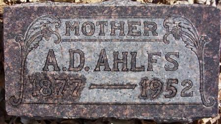 AHLFS, A. D. - Plymouth County, Iowa | A. D. AHLFS