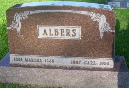 ALBERS, MARTHA - Plymouth County, Iowa | MARTHA ALBERS