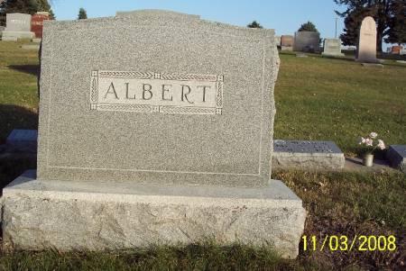 ALBERT, TOMBSTONE - Plymouth County, Iowa | TOMBSTONE ALBERT