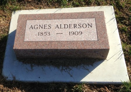 KNEWSTUBB ALDERSON, AGNES - Plymouth County, Iowa | AGNES KNEWSTUBB ALDERSON