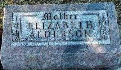 ROWE ALDERSON, ELIZABETH