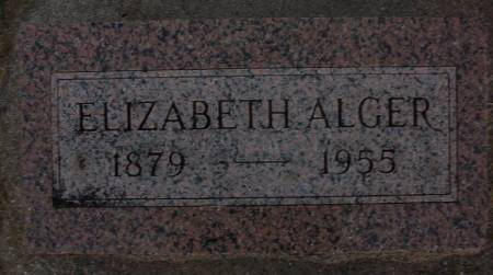 ALGER, ELIZABETH - Plymouth County, Iowa | ELIZABETH ALGER