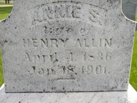 ALLIN, ANNIE S - Plymouth County, Iowa | ANNIE S ALLIN