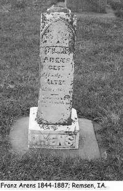ARENS, FRANZ - Plymouth County, Iowa | FRANZ ARENS