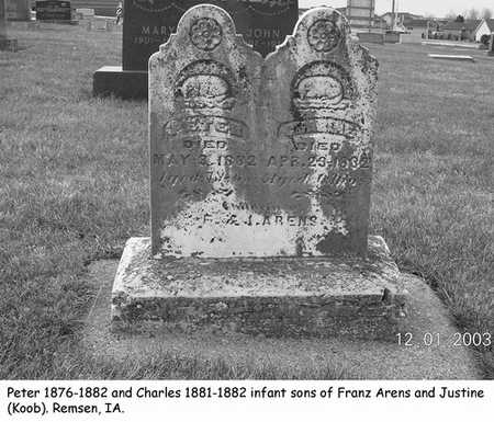 ARENS, PETER - Plymouth County, Iowa | PETER ARENS