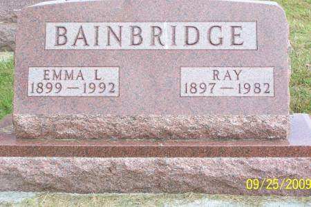 WOODS BAINBRIDGE, EMMA LEONA - Plymouth County, Iowa | EMMA LEONA WOODS BAINBRIDGE