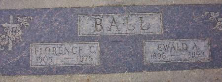YATES BALL, FLORENCE CAROLINE - Plymouth County, Iowa   FLORENCE CAROLINE YATES BALL