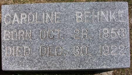 BEHNKE, CAROLINE - Plymouth County, Iowa   CAROLINE BEHNKE