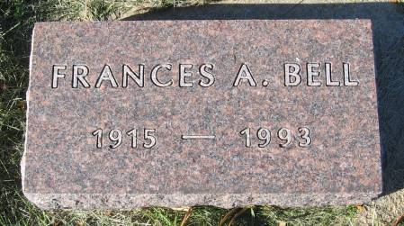 GABEL BELL, FRANCES AUDREY - Plymouth County, Iowa   FRANCES AUDREY GABEL BELL