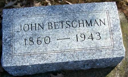 BETSCHMAN, JOHN - Plymouth County, Iowa | JOHN BETSCHMAN