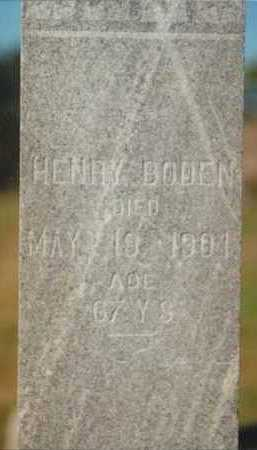 BODEN, HENRY - Plymouth County, Iowa | HENRY BODEN
