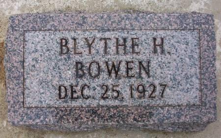 BOWEN, BLYTHE H. - Plymouth County, Iowa | BLYTHE H. BOWEN