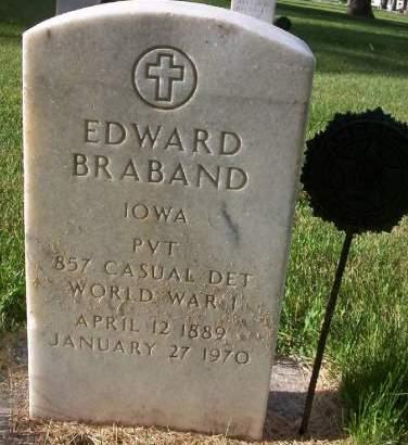 BRABAND, EDWARD - Plymouth County, Iowa   EDWARD BRABAND