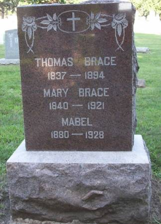 BRACE, MABEL SARAH - Plymouth County, Iowa | MABEL SARAH BRACE