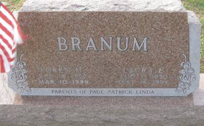 BRANUM, LAURA E. - Plymouth County, Iowa   LAURA E. BRANUM