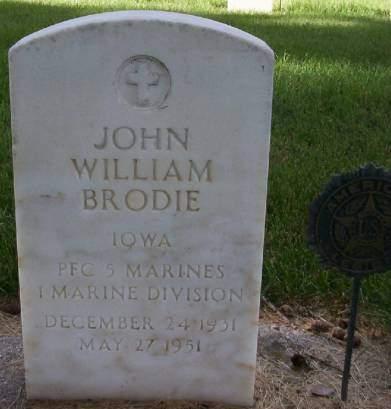 BRODIE, JOHN WILLIAM - Plymouth County, Iowa | JOHN WILLIAM BRODIE