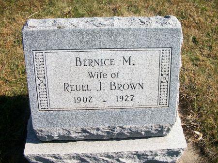 BROWN, BERNICE M. - Plymouth County, Iowa | BERNICE M. BROWN